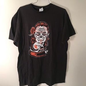 GRAPHIC T SHIRT WOMAN SKULL